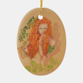 Brigit celtic goddess christmas ornament