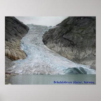 Brikdalsbreen Glacier Poster