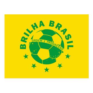Brilha Brasil - Brazilian Soccer Postcard