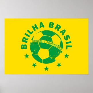 Brilha Brasil - Brazilian Soccer Print