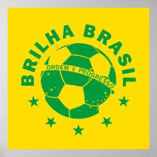 Brilha Brasil - Brazilian Soccer Poster