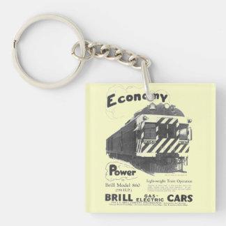 Brill Light-Weight  Passenger Train 1932 Keychain Square Acrylic Keychain