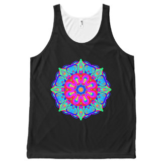 Brilliance Blue Mandala Tank Top All-Over Print Tank Top