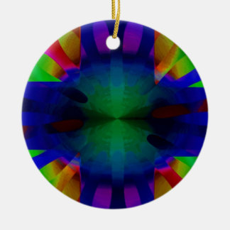 Brilliance Cross Double-Sided Ceramic Round Christmas Ornament