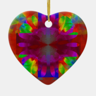 Brilliance Cross Double-Sided Heart Ceramic Christmas Ornament