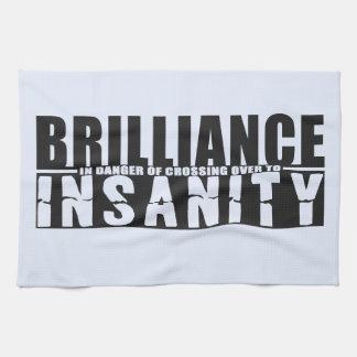 BRILLIANCE VS INSANITY custom hand towel