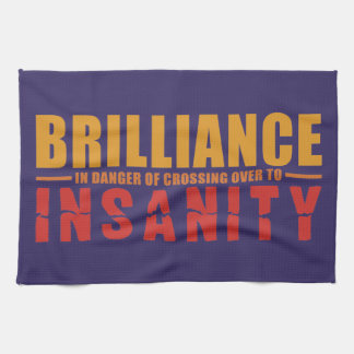 BRILLIANCE VS INSANITY custom hand towel