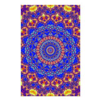Brilliant Azure Blue Mandala Customised Stationery
