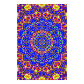 Brilliant Azure Blue Mandala Stationery