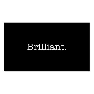 Brilliant Black and White Quote Template Double-Sided Standard Business Cards (Pack Of 100)