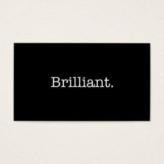 Brilliant Black and White Quote Template Business Card