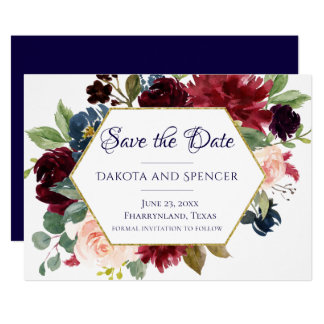Brilliant Bloom | Save the Date Floral Wedding Card
