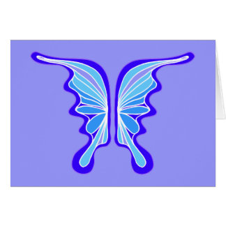 Brilliant Blue Butterfly Party Invitation Greeting Card