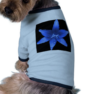 Brilliant Blue Lily Doggie T-shirt
