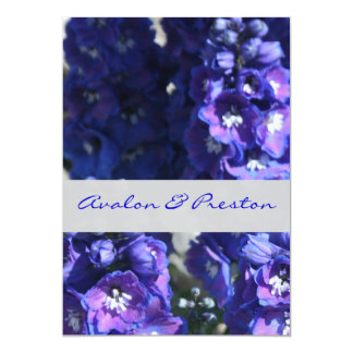 Brilliant Blue & Purple Floral Wedding Invitation