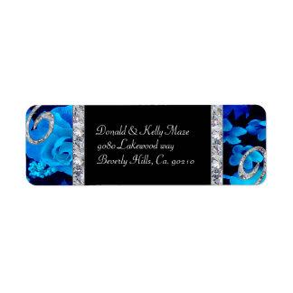 Brilliant Blue Roses & Diamond Swirls Wedding
