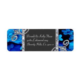 Brilliant Blue Roses & Diamond Swirls Wedding CSTM