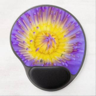 Brilliant Blue Water Lily Bloom photo Gel Mouse Pad