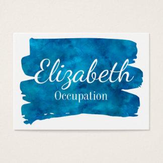 Brilliant Blue Watercolor Splash Business Card