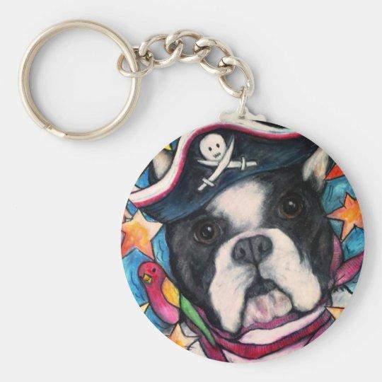 Brilliant Bulldog Basic Round Button Key Ring