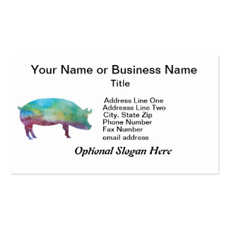 Brilliant Color-washed Pigs Pack Of Standard Business Cards