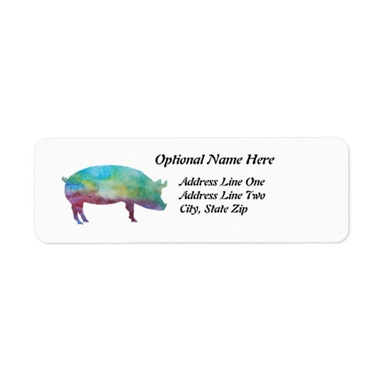 Brilliant Colour-washed Pigs Return Address Label