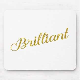 Brilliant Gold Faux Glitter Metallic Sequins Mouse Pad