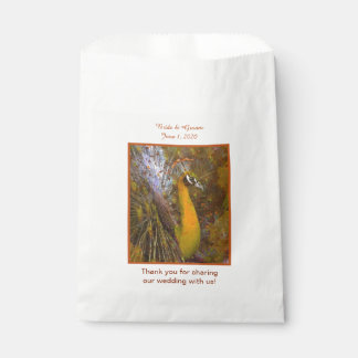 Brilliant Gold Peacock Wedding Favor Bags
