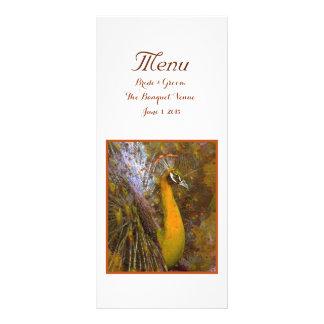Brilliant Gold Peacock Wedding Menu