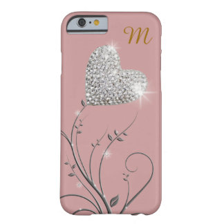 brilliant heart-flower barely there iPhone 6 case