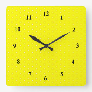 Brilliant Lemon Yellow Sunshine Stars Pattern Clocks