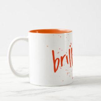 Brilliant Orange Splash Two-Tone Coffee Mug