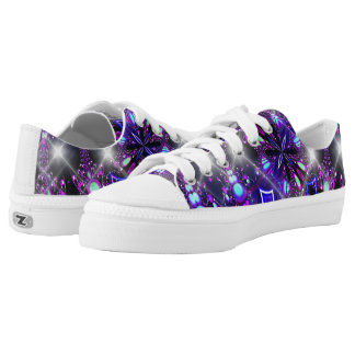 Brilliant pattern violet low tops