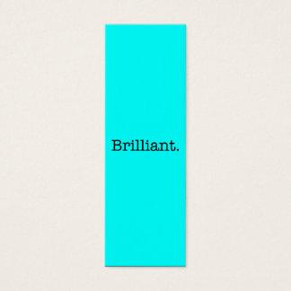 Brilliant Quote Neon Blue Teal Light Bright Color Mini Business Card