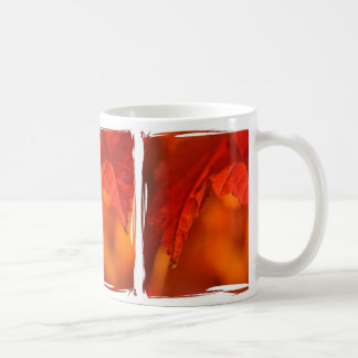 Brilliant Red Maple Leaf Photograph Coffee Mug