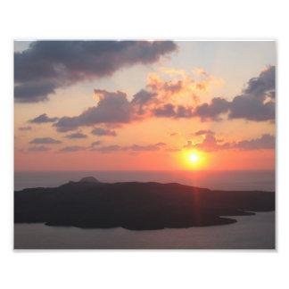 Brilliant Santorini Sunset Photo Art