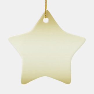 Brilliant shiny gold double sided christmas ornament
