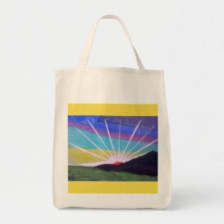 Brilliant starburst sunrise totebag tote bag