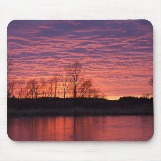 Brilliant sunset reflects into the Calamus River Mouse Mat