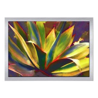 Brilliant Tropical Agave Plant 13 Cm X 18 Cm Invitation Card