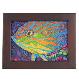 Brilliant Tropical Fish I Keepsake Box