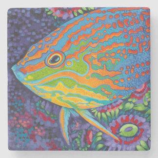 Brilliant Tropical Fish I Stone Coaster