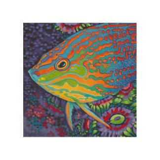 Brilliant Tropical Fish I Wood Wall Art