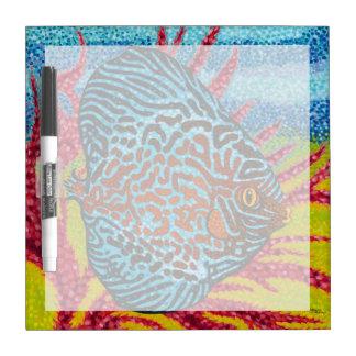 Brilliant Tropical Fish II Dry Erase Board