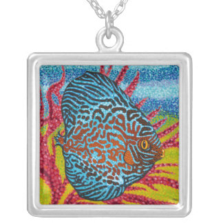 Brilliant Tropical Fish II Silver Plated Necklace