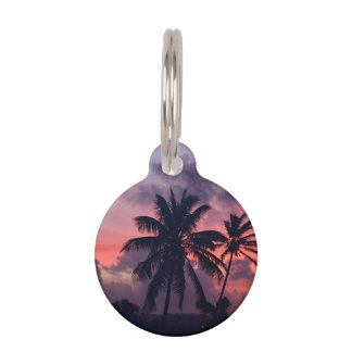 Brilliant Tropical Sunset Pet Tag
