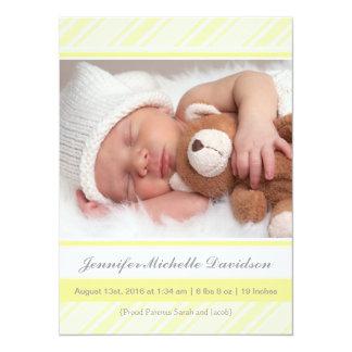 Brilliant Yellow Baby Birth Announcements