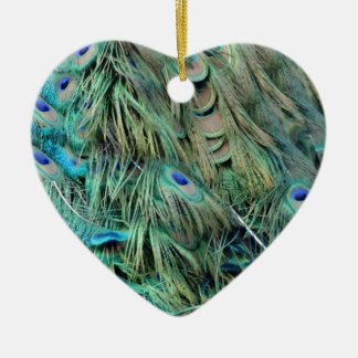 Brilliantly Peafowl Feathers Cool Eye Spots Christmas Ornament