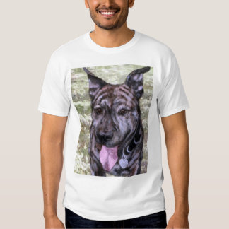 Brindle Amstaff American Staffordshire Terrier Dog T-shirt