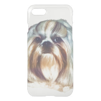 Brindle and White Shih Tzu Dog iPhone 7 Case